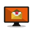 system virus email laptop vector image vector image