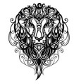 tattoo lion vector image vector image