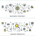 Thin Line Business Strategy and Search Products vector image vector image
