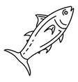 tuna fish icon outline style vector image