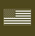 usa flag white on military olive drab vector image vector image