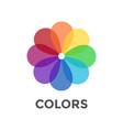 digital color wheel vector image