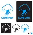 cloud service logo template vector image