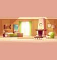 cartoon of a bedroom interior vector image