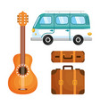 hippie objects design vector image