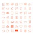 49 board icons vector image vector image