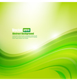 Abstract background Ligth green curve and wave vector image vector image