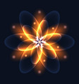 abstract glowing light flower symbol of life and vector image vector image