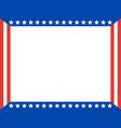 american flag patriotic frame border vector image vector image
