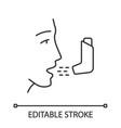 asthma inhaler linear icon