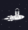 astronaut play with mobile phone vector image vector image
