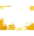 Background with yellow blotches vector image vector image