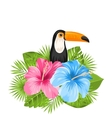 Beautiful Exotic Nature Background with Toucan vector image vector image