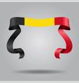 belgian flag wavy ribbon background vector image