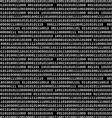 Binary computer code raster background black vector image