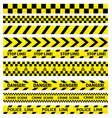 black and yellow police stripe border vector image