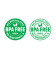 bpa free certificate icon no phthalates and no vector image vector image