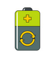cartoon battery isolated vector image vector image