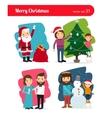 Christmas people vector image