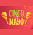 cinco de mayo holiday maracas musical instrument vector image