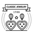 classic jewelry logo outline style vector image