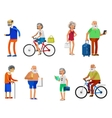 Cool flat character design on senior vector image vector image