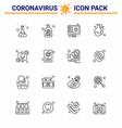 covid19-19 protection coronavirus pendamic 16 line vector image vector image