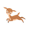 cute badeer happily jumping adorable forest vector image vector image