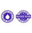 delicious water grunge stamp seals vector image vector image