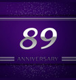 eighty nine years anniversary celebration design vector image vector image
