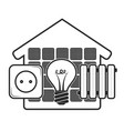 energy for home eco symbol vector image