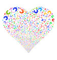 euro fireworks heart vector image