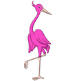 flamingo cartoon vector image vector image