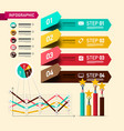 four steps infographic layout with design vector image vector image
