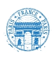 france logo design template stamp or paris vector image