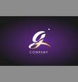 g alphabet letter gold golden logo icon design vector image vector image