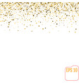 golden stars are falling down vector image vector image