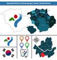 gwanak district seoul city south korea vector image vector image