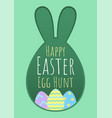 happy easter greeting card with egg vector image vector image