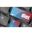 Health diet button on computer pc keyboard vector image