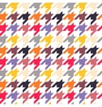 Houndstooth seamless pattern colorful vector image