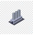 isolated tank warehouse isometric water storage vector image vector image