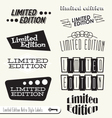 Limited Edition Labels vector image