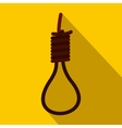 loop rope icon flat style vector image vector image