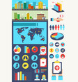medical and healthcare infographic elements vector image vector image