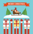 modern flat designmerry christmas vector image