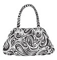 modern handbag vector image vector image