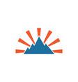 mountain logo icon element design template vector image vector image
