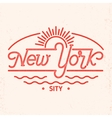 new york city line art design vector image