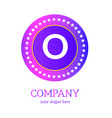 o letter logo design o icon colorful and modern vector image vector image
